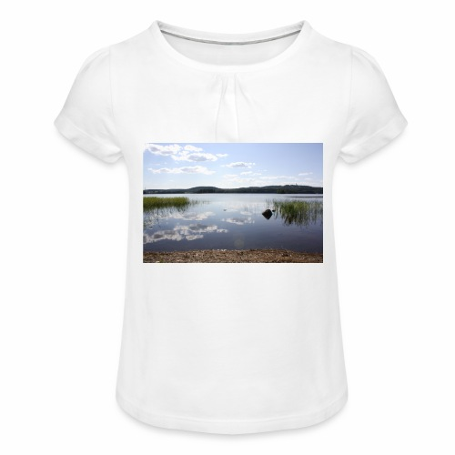 landscape - Girl's T-Shirt with Ruffles
