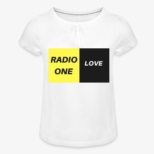 RADIO ONE LOVE - T-shirt à fronces au col Fille