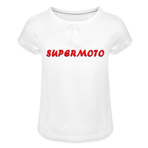 SupermotoLuvan - T-shirt med rynkning flicka