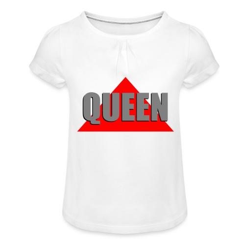 Queen, by SBDesigns - T-shirt à fronces au col Fille