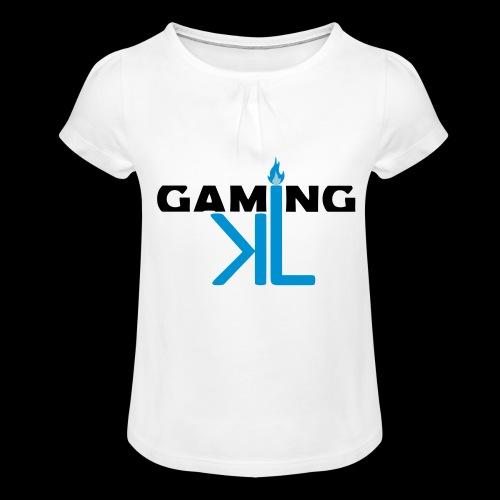 Kassu_L LOGO - Tyttöjen t-paita, jossa rypytyksiä