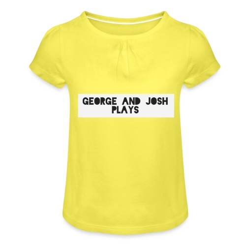 George-and-Josh-Plays-Merch - Girl's T-Shirt with Ruffles