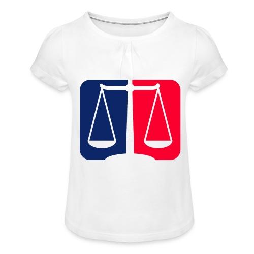Logo2 - Mädchen-T-Shirt mit Raffungen