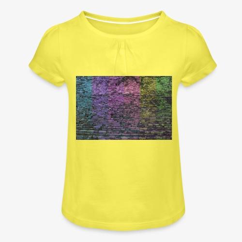 Regenbogenwand - Mädchen-T-Shirt mit Raffungen