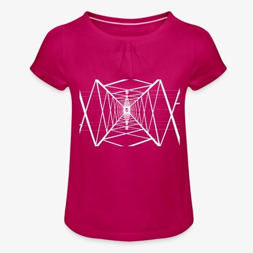 Quermast V2 Weiß - Mädchen-T-Shirt mit Raffungen