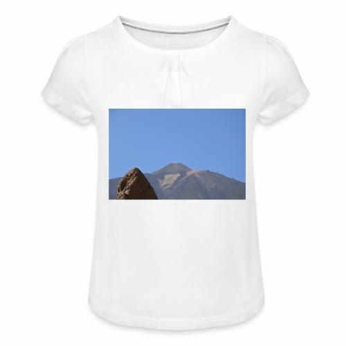 Teide - Teneriffa - Mädchen-T-Shirt mit Raffungen
