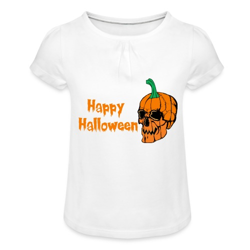 Happy Halloween - Girl's T-Shirt with Ruffles
