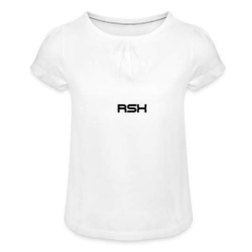 rsxdesign - Mädchen-T-Shirt mit Raffungen