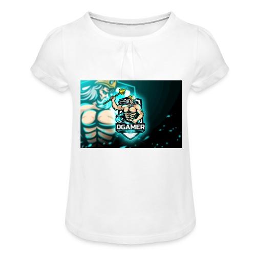 8251831F EA3A 4726 A475 A5510CDECB5A - T-shirt med rynkning flicka