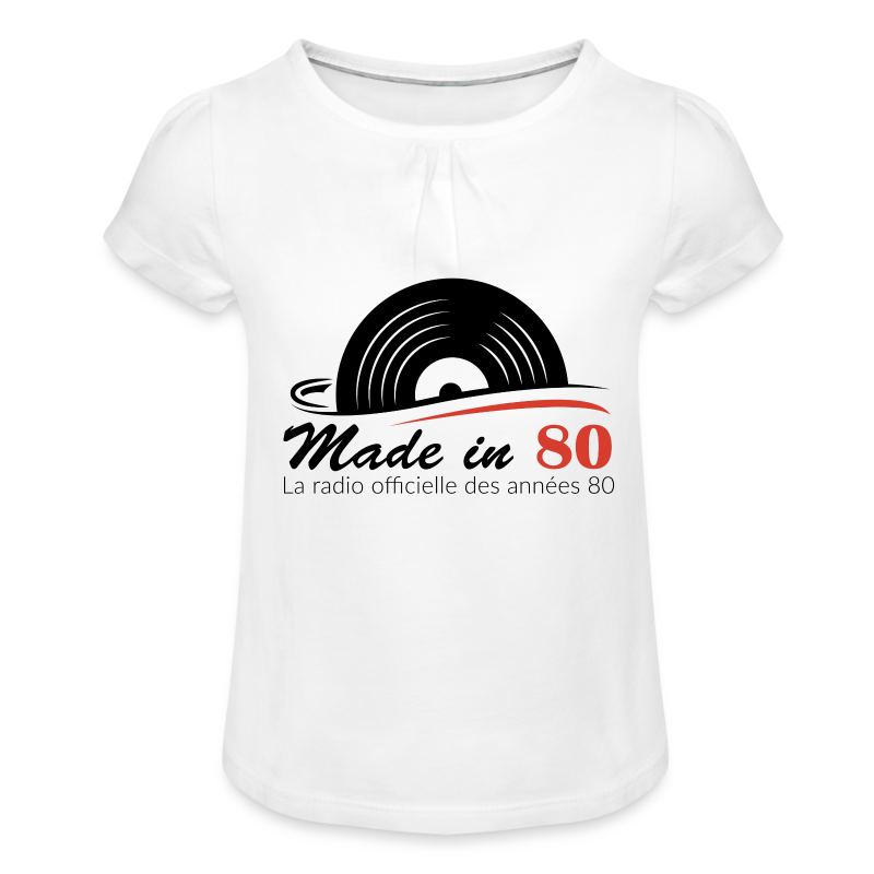 Made in 80 - T-shirt à fronces au col Fille