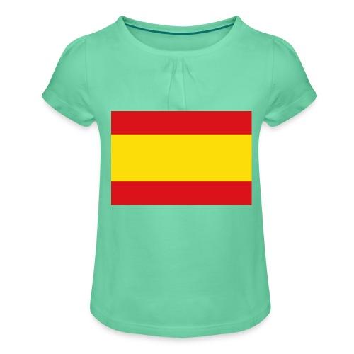 vlag van spanje - Meisjes-T-shirt met plooien
