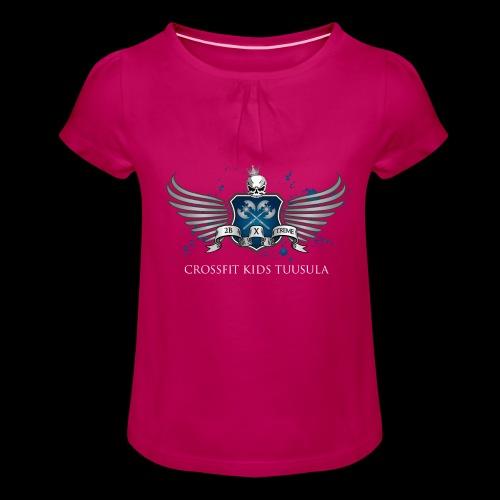 CrossFit kids Tuusula - Tyttöjen t-paita, jossa rypytyksiä