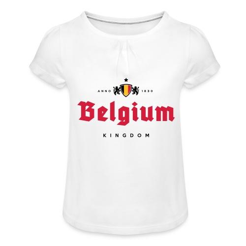 Bierre Belgique - Belgium - Belgie - T-shirt à fronces au col Fille