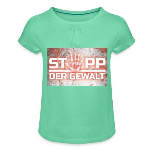 STOPP DER GEWALT - Girl's T-Shirt with Ruffles