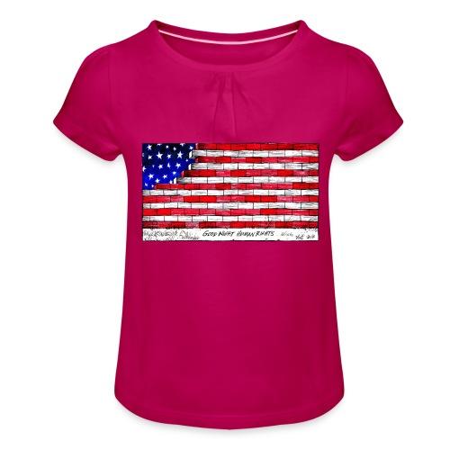 Good Night Human Rights - Girl's T-Shirt with Ruffles