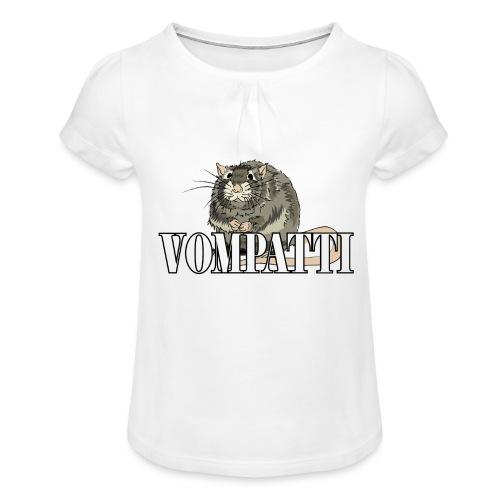 Vompatti - Tyttöjen t-paita, jossa rypytyksiä