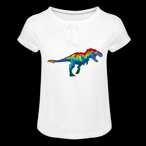 T-Rex - Girl's T-Shirt with Ruffles
