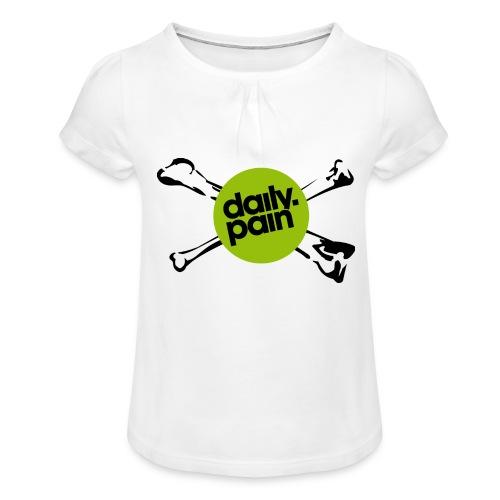 daily pain cho kark - Koszulka dziewczęca z marszczeniami