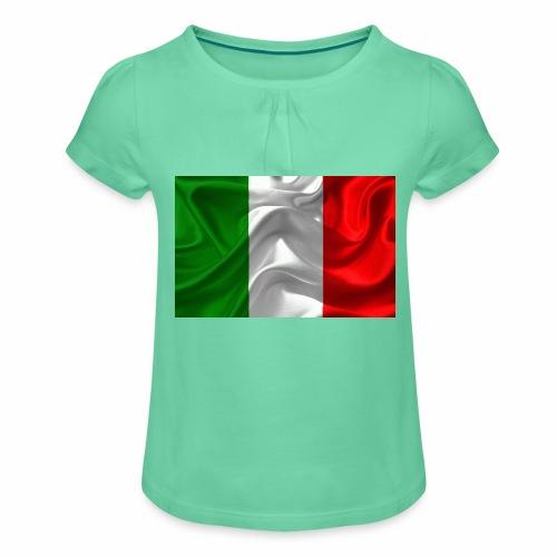 Italien - Mädchen-T-Shirt mit Raffungen