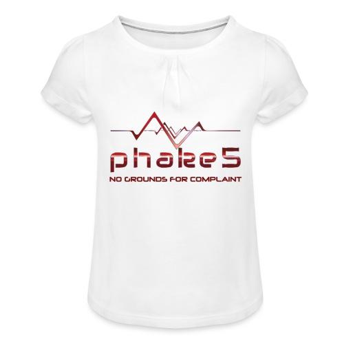 transparent - T-shirt med rynkning flicka