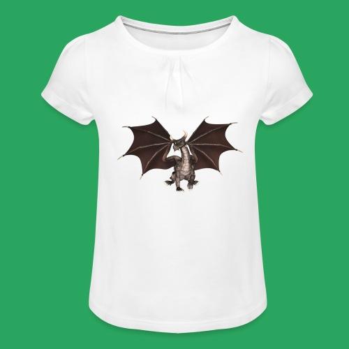dragon logo color - Maglietta da ragazza con arricciatura