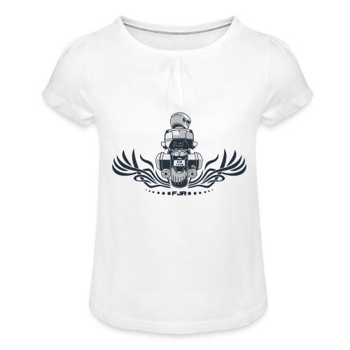 0852 fjr topkoffer - Meisjes-T-shirt met plooien