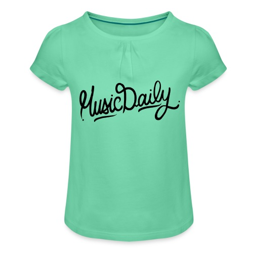 MusicDaily Logo - Meisjes-T-shirt met plooien