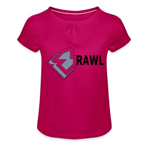 PANDA ONLY LOGO - Meisjes-T-shirt met plooien