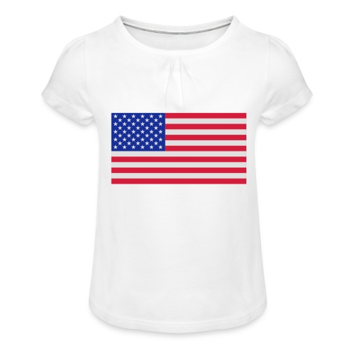 USA / United States - Meisjes-T-shirt met plooien