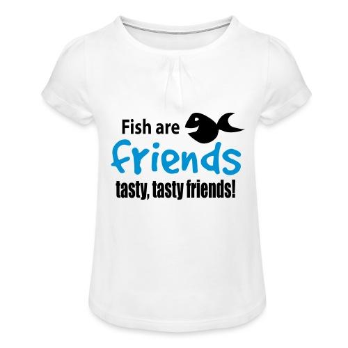 Fisk er venner - Jente-T-skjorte med frynser