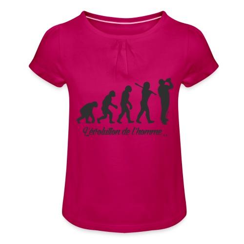 évolution homme (H) - T-shirt à fronces au col Fille