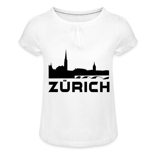 Zürich - Mädchen-T-Shirt mit Raffungen