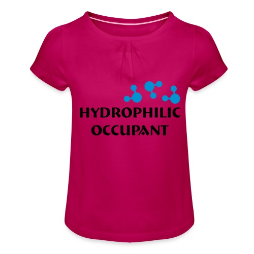 Hydrophilic Occupant (2 colour vector graphic) - Girl's T-Shirt with Ruffles