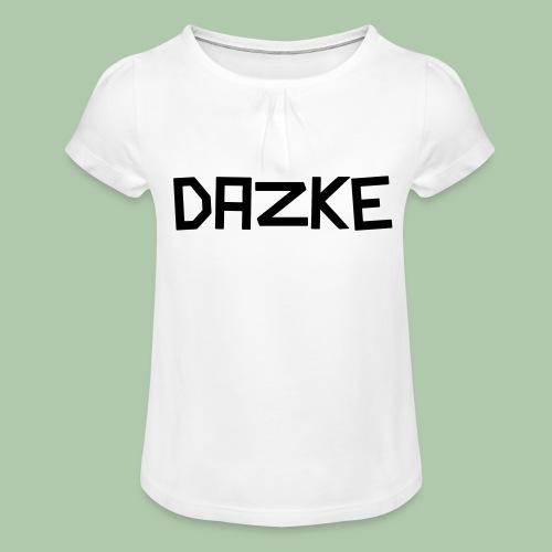 dazke_bunt - Mädchen-T-Shirt mit Raffungen