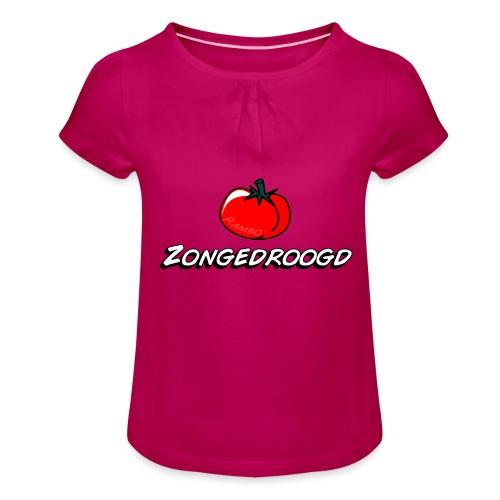 ZONGEDROOGD - Meisjes-T-shirt met plooien