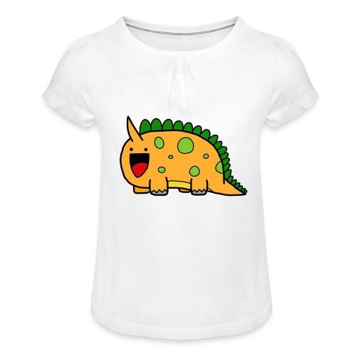 cute-dinosaur-clipart-panda-free-clipart-images-Yj - Maglietta da ragazza con arricciatura