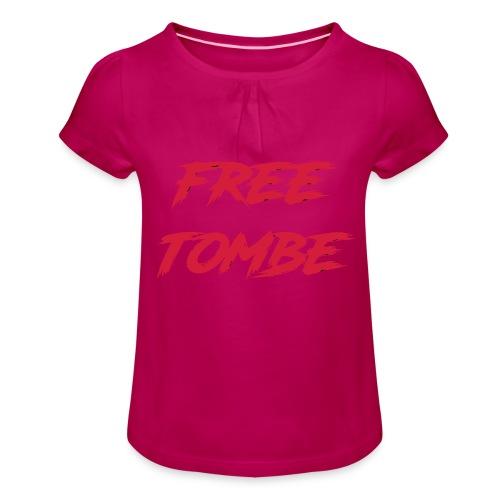 FREE TOMBE AI - Mädchen-T-Shirt mit Raffungen