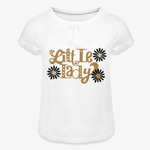 large_little-lady - T-shirt à fronces au col Fille