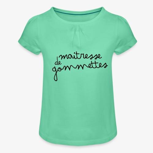 Maitresse de Gommettes - T-shirt à fronces au col Fille