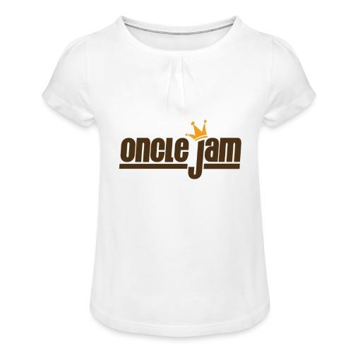 Oncle Jam horizontal brun - T-shirt à fronces au col Fille