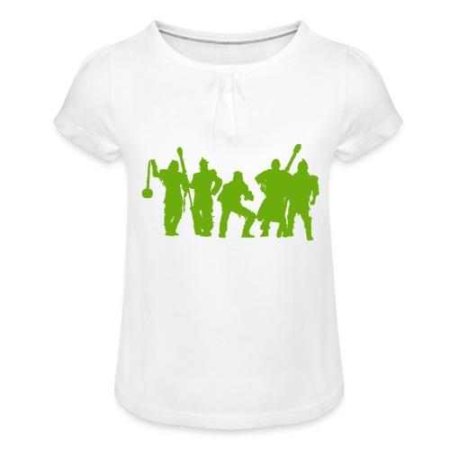 Jugger Schattenspieler gruen - Mädchen-T-Shirt mit Raffungen