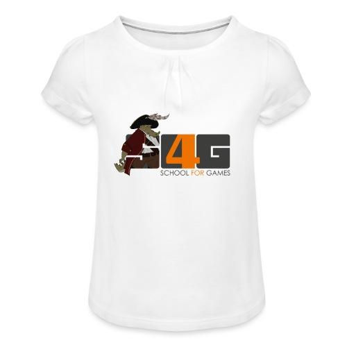 Tshirt 01 png - Mädchen-T-Shirt mit Raffungen