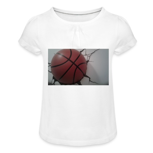 Softer Kevin K - T-shirt med rynkning flicka