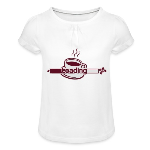 loading - Mädchen-T-Shirt mit Raffungen