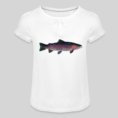 Trout - Tyttöjen t-paita, jossa rypytyksiä