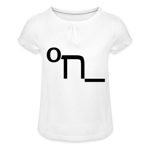 DRUNK - Girl's T-Shirt with Ruffles