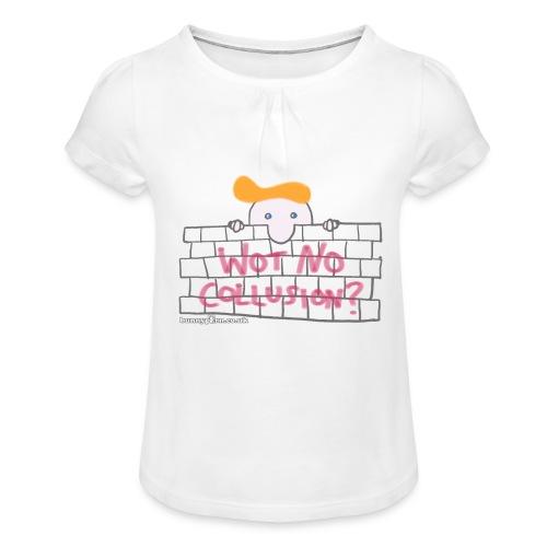 Trump's Wall - Girl's T-Shirt with Ruffles