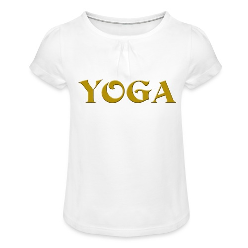 Yoga - Mädchen-T-Shirt mit Raffungen