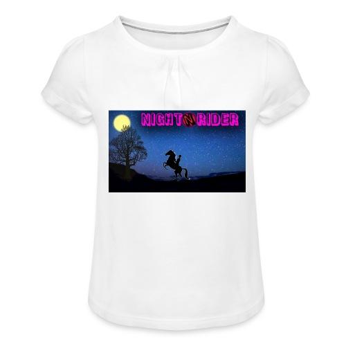 nightrider merch - Pige T-shirt med flæser