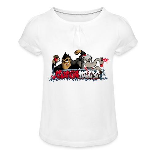 Cupfighters Rotterdam - Meisjes-T-shirt met plooien